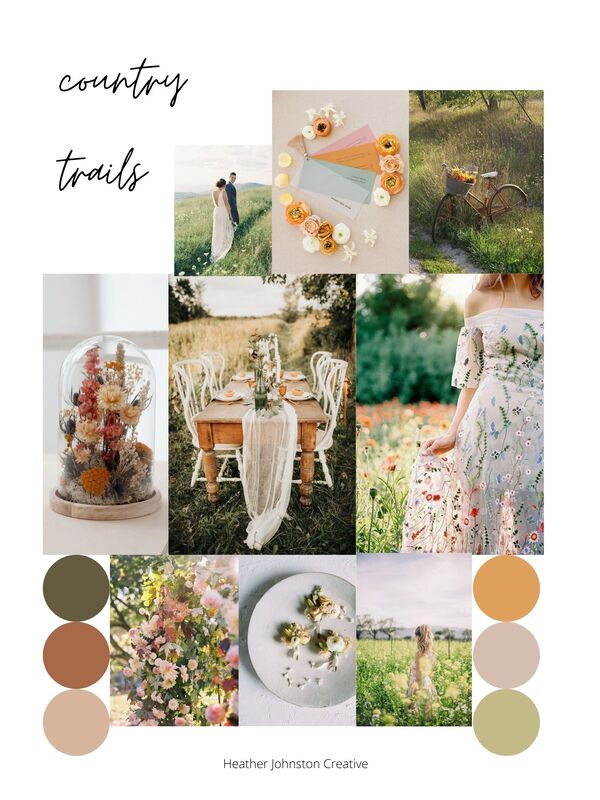 country trails summer session mood board