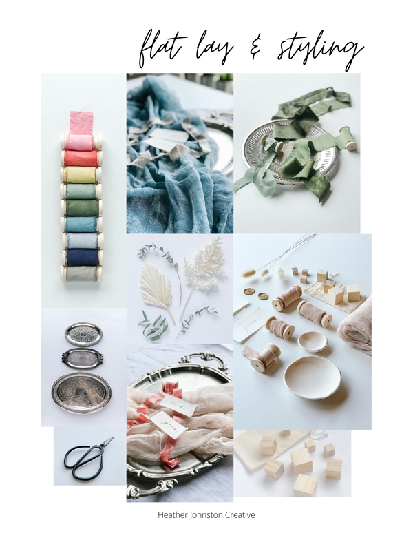 flat lay styling session mood board